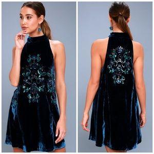 f3afc3e4 Free People Dresses - NWT, Free People, Jills Sequin Velvet Swing Dress